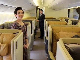 review singapore airlines boeing 777 business class
