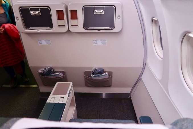 CATHAY DRAGON A320 BUSINESS CLASS SEAT