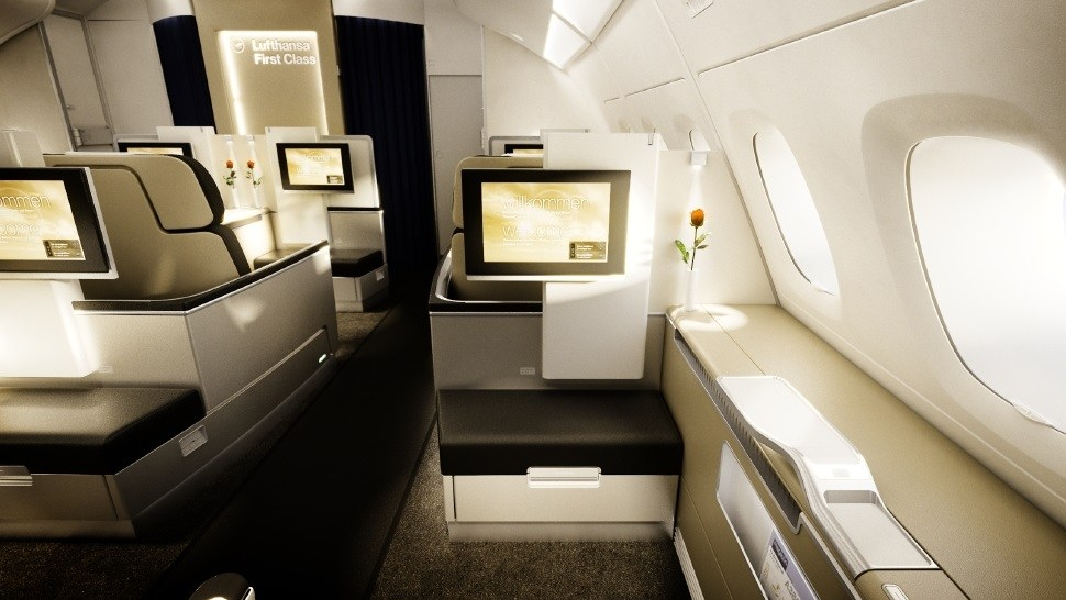 airlines with best first class: LUFTHANSA