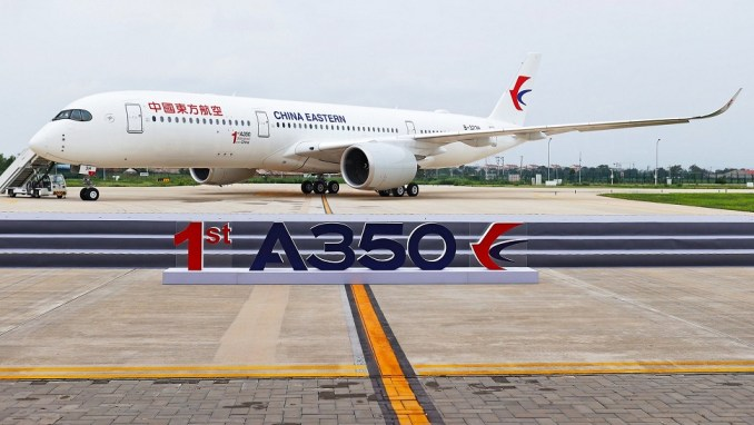 FIRST A350 DELIVERED FROM CHINA