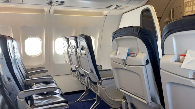 BRUSSELS AIRLINES A319 BUSINESS CLASS CABIN