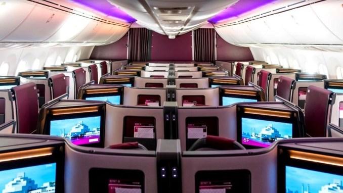 qatar airways boeing 787 business class suite