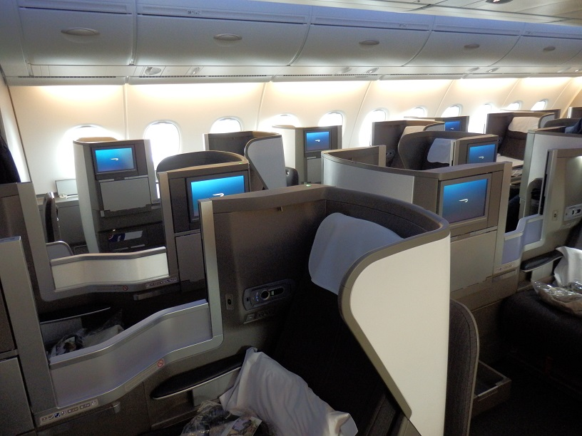 British Airways Airbus A380 business class London to Los