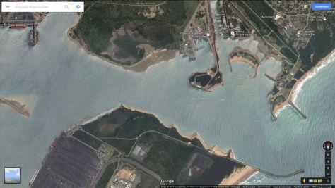 Der Hafenbereich von Richards Bay