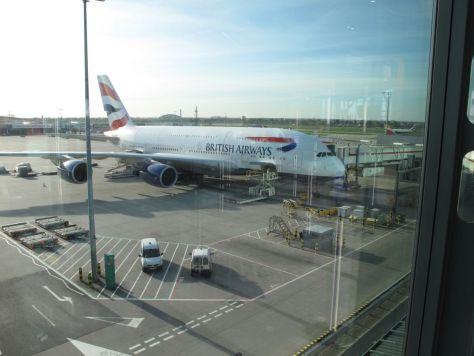 Unser Flieger nach Südafrika