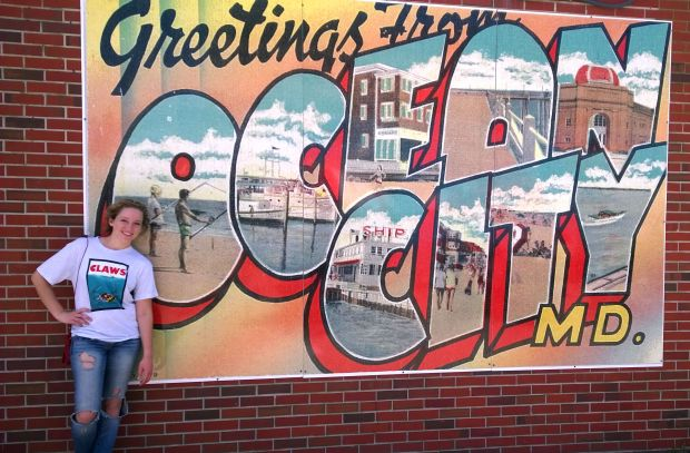 Me last summer at my favorite vacation spot: Ocean City, MD!