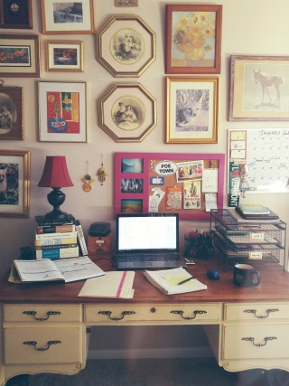My desk, AKA where I spend about 94% of my waking hours!