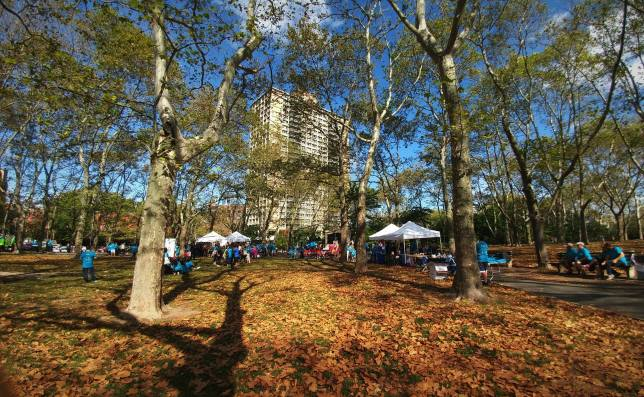 The event was held in Cadman Plaza Park.