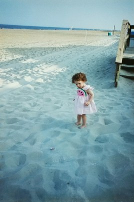 Me as a toddler: note the puffy right foot and ankle. I wouldn't be diagnosed for another ten years.