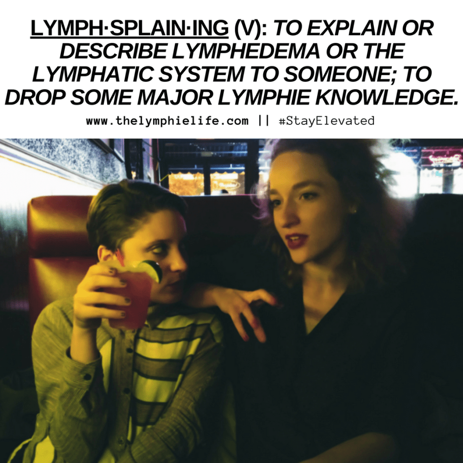 "A graphic defining the term ""lymphsplaining"""