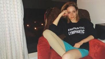 the-lymphie-life-alexa-wearing-emphatic-lymphatic-sweatshirt