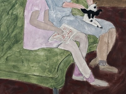 Detail from The Green Settee (1943), by Milton Avery