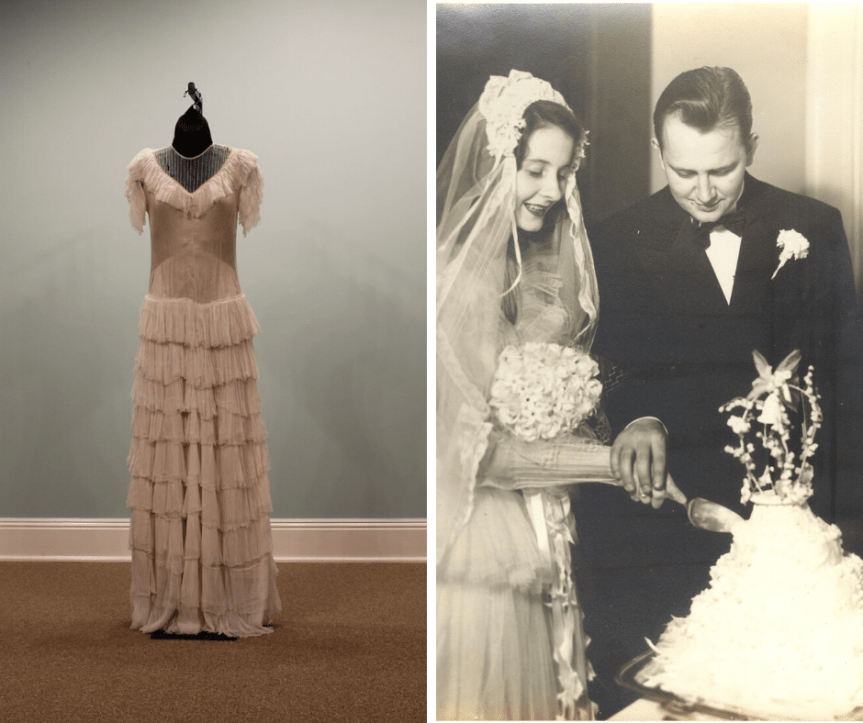 Oakland Mansion's Wedding Dresses through the Decades ends March 1