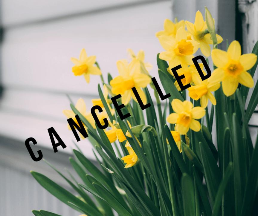 Daffodil Day cancelled