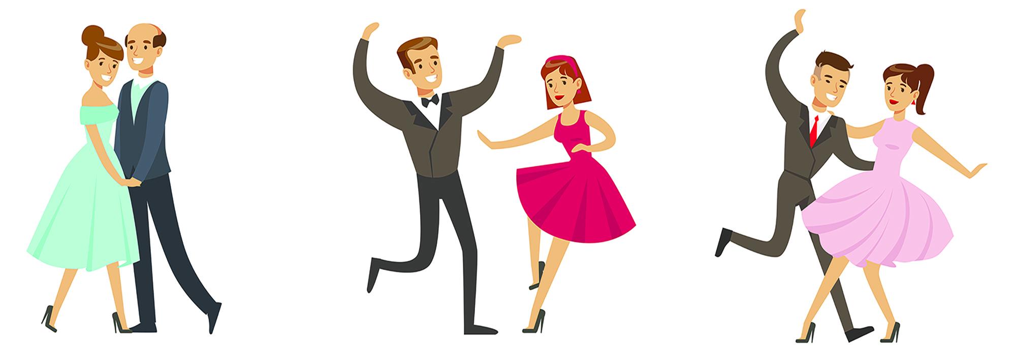 couples danseurs rock