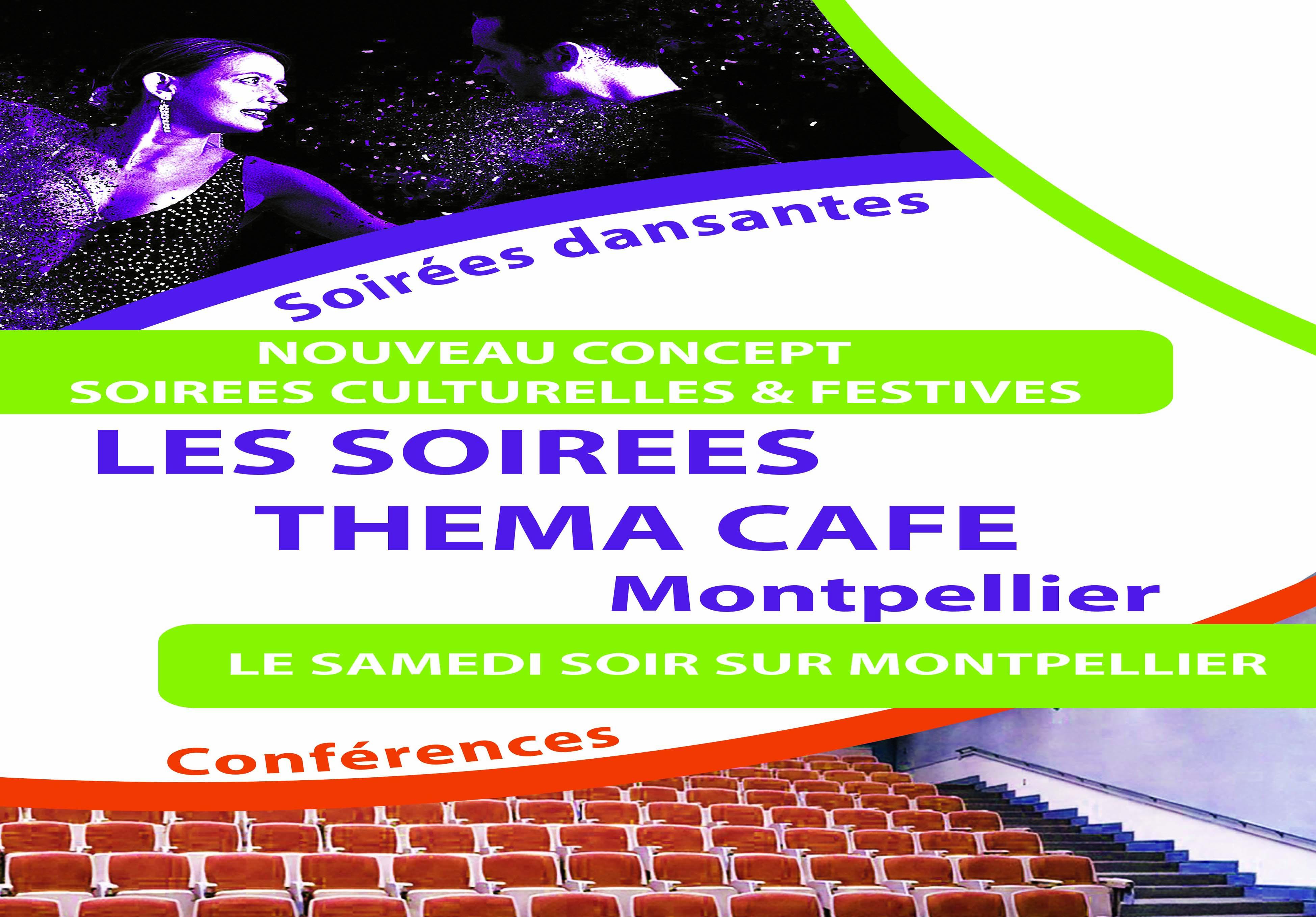 Flyer soirée dansante et culturelle THEMACAFE Montpellier