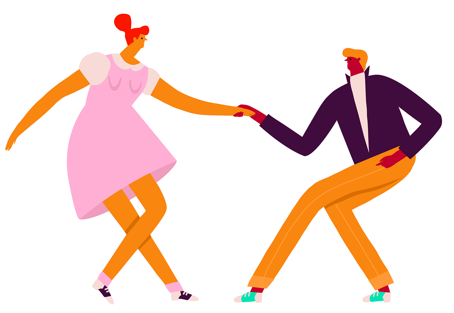 couple de danseurs rock