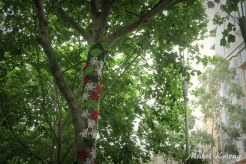 Christmas Tree Knit Yarn, Collins Square, Melbourne
