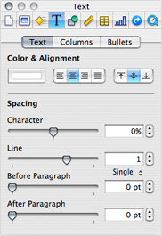 Possibly the most iconic presence in iWork: the Inspector