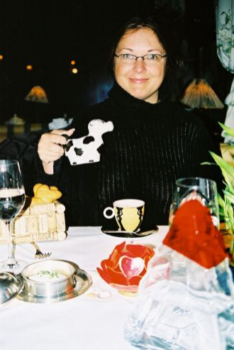 This was on honeymoon in Austria - we were at such a weird and wonderful restaurant! I will always remember it.