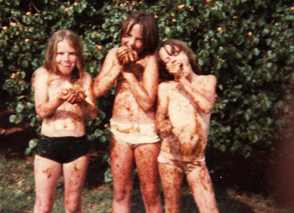 Rotten apricot fights (I'm the one in the middle)...