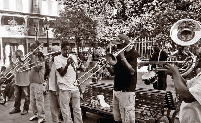 black-residents-band-brass-trumpets-trombone-jazz-new-orleans-hurricane-katrina