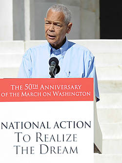 julian-bond-speaking-podium-national-action-to-relaize-the-dream