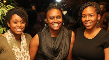 Brown Girl Green Money members Jasmine Zapata, Angela Fitzgerald, and Matiya Hill