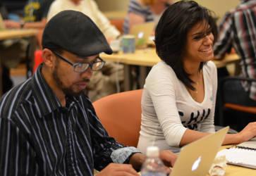 Students at YWeb Career Academy. Photo courtesy of YWeb Career Academy