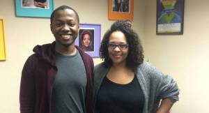 Antonio Mims, Foundations of Leadership program participant, and Ali Muldrow, GSAFE's Racial Justice Youth Coordinator. Photo courtesy of Jacklin Bolduan.