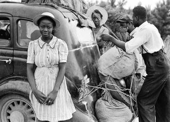 African-American family participates in post-slavery Great Migration. Photo credit: Pixabay