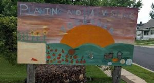 Sign in the garden at Centro Hispano on Madison's south side. Photo courtesy of Jacklin Bolduan.