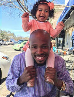 Single dad Christopher Emmanuel with his daughter, Skylar. Credit: Christopher Emmanuel