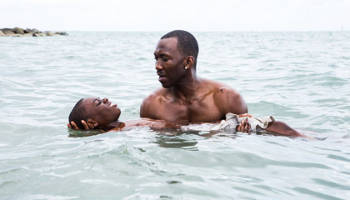 "Alex Hibbert (left) and Mahershala Ali star in ""Moonlight."""