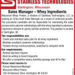 Position Open – Sales Manager at Wisconsin Whey Protein
