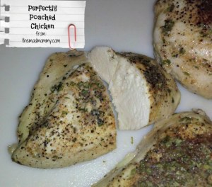 Perfectly Poached Chicken every time, with my chicken poaching method!