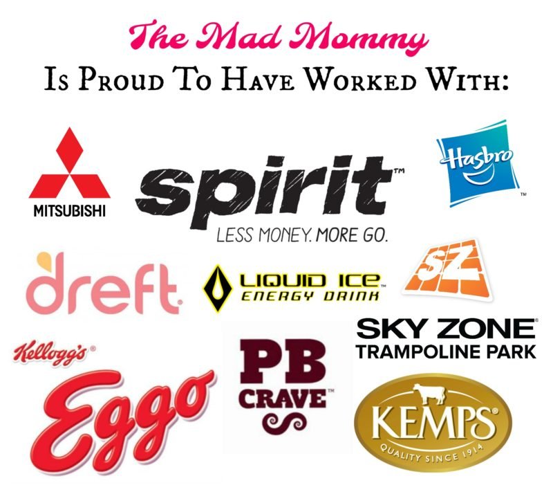 Here are some of the great brands that have worked with The Mad Mommy!