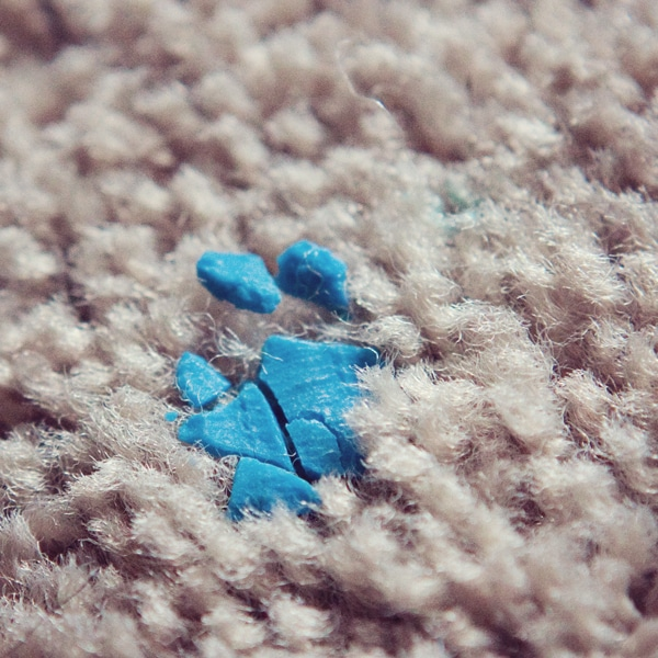 playdoh in carpet