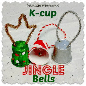 Turning used k-cups into jingle bells with themadmommy.com