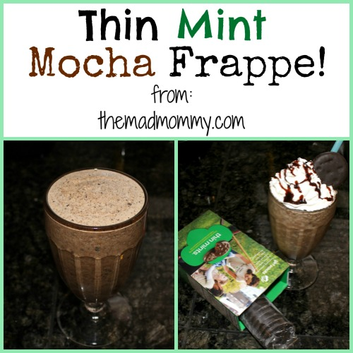 It's Girl Scout Cookie time and that means the Thin Mints are coming! I can't wait to make one of these Thin Mint Frappes!