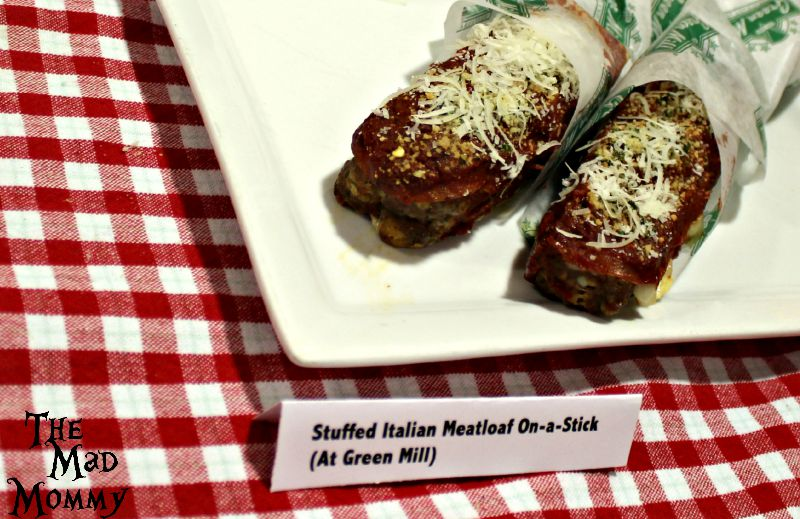 Stuffed Italian Meatloaf on a stick From The Green Mill