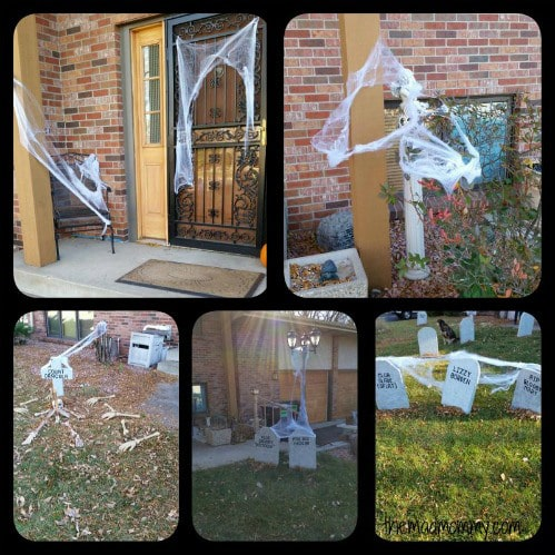 Our yard becomes a graveyard on Halloween! #BOOItForward #ad #CollectiveBias