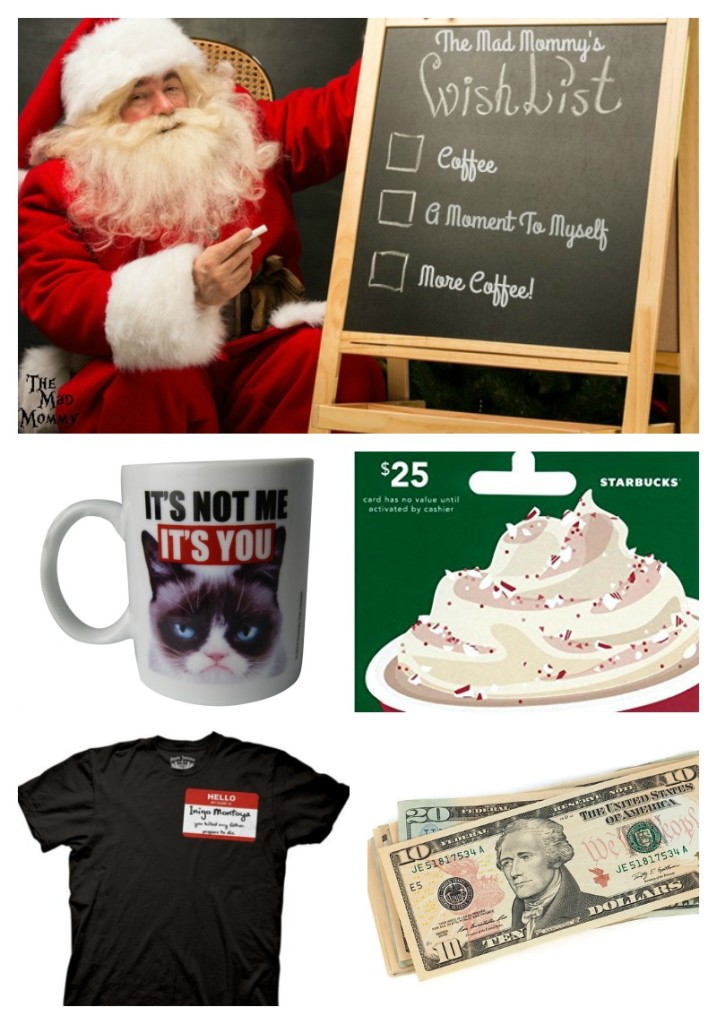 What does The Mad Mommy want for Christmas? You might be surprised! I want a lot, like some things, but expect none of them.