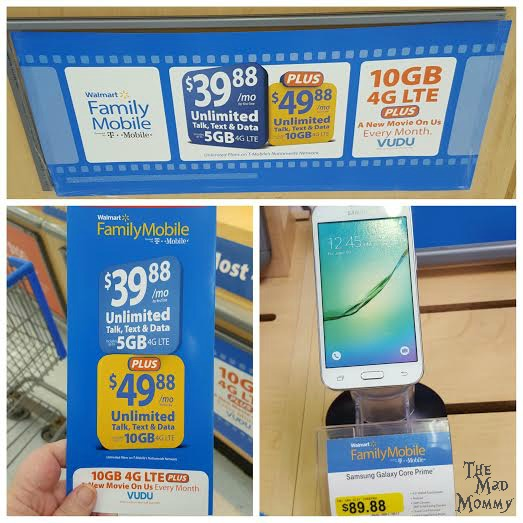 Shopping at Walmart for a Walmart Family Mobile plan and phone! #DataAndAMovie #FamilyMobile #AD #CollectiveBias