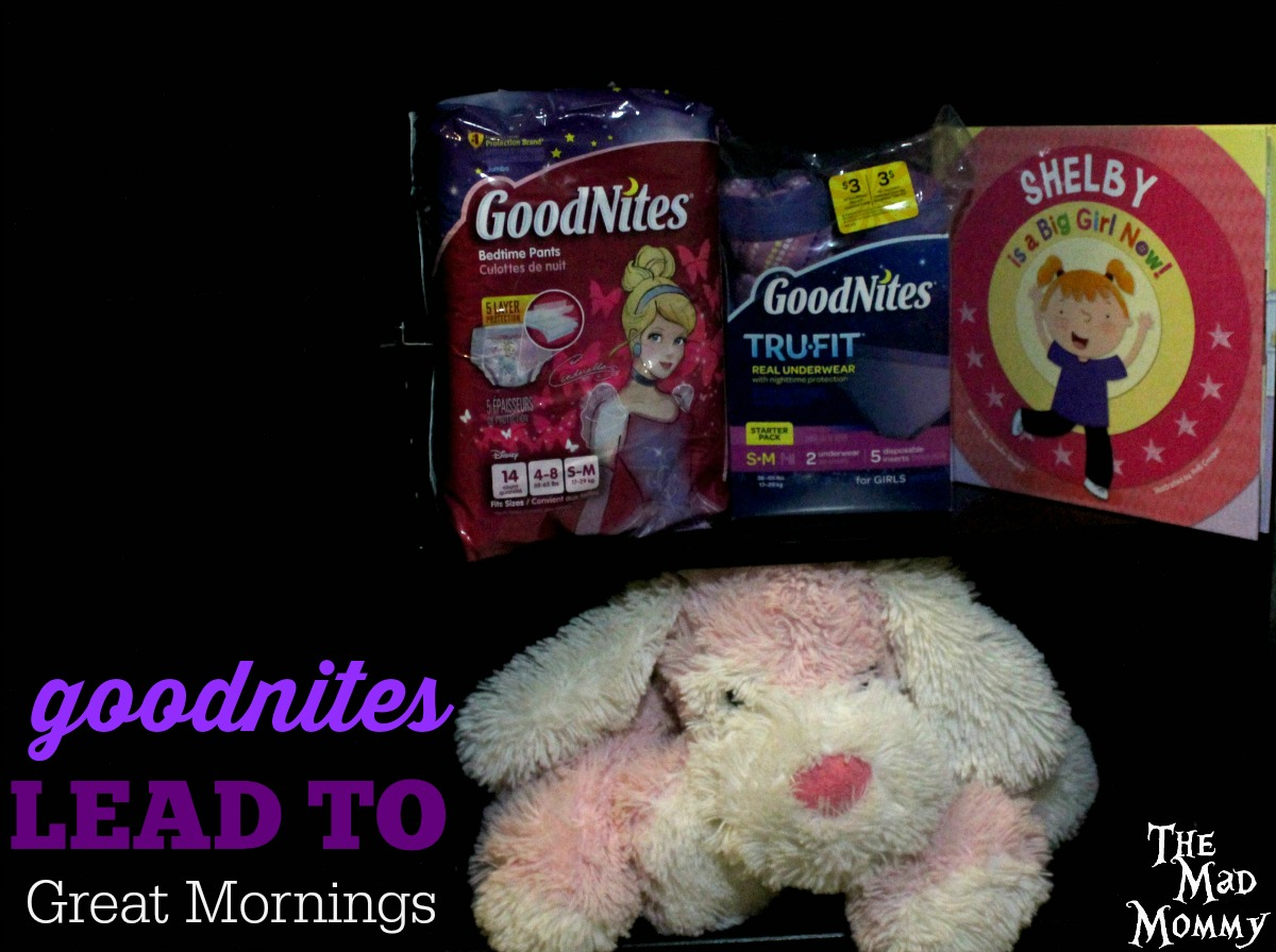 GoodNites lead to great mornings! Here are some the things that we are using to night train our daughter. #RestEasySolutions #CollectiveBias #ad