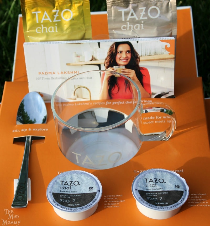 A gift box containing the new TAZO® Chai Latte K-Cup® pods! #SweetMeetsSpicy, #ChaiLatte, #KCup, #IC #ad