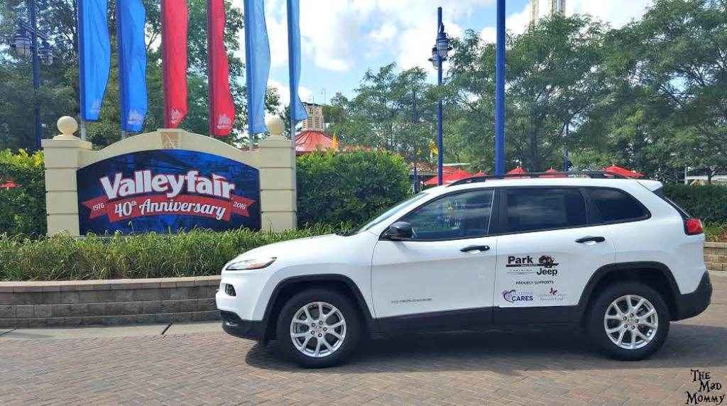 During Valleyfair Cares guests can purchase a raffle ticket for a chance to win a 2016 Jeep Cherokee courtesy of Park Jeep. Raffle tickets are only $10 each and can be purchased throughout Valleyfair during the Valleyfair Cares event. Proceeds from the raffle benefit Children's Cancer Research Fund. #ValleyfairCares #VFBestDay #Spons