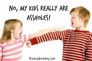 Remember when I told you that my kids are assholes? I wasn't kidding. My kids are, indeed, assholes.