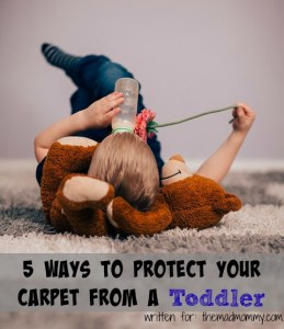 5 Ways to Protect Your Carpet From A Toddler
