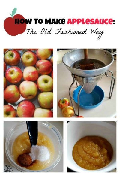 How To Make Applesauce: The Old Fashioned Way